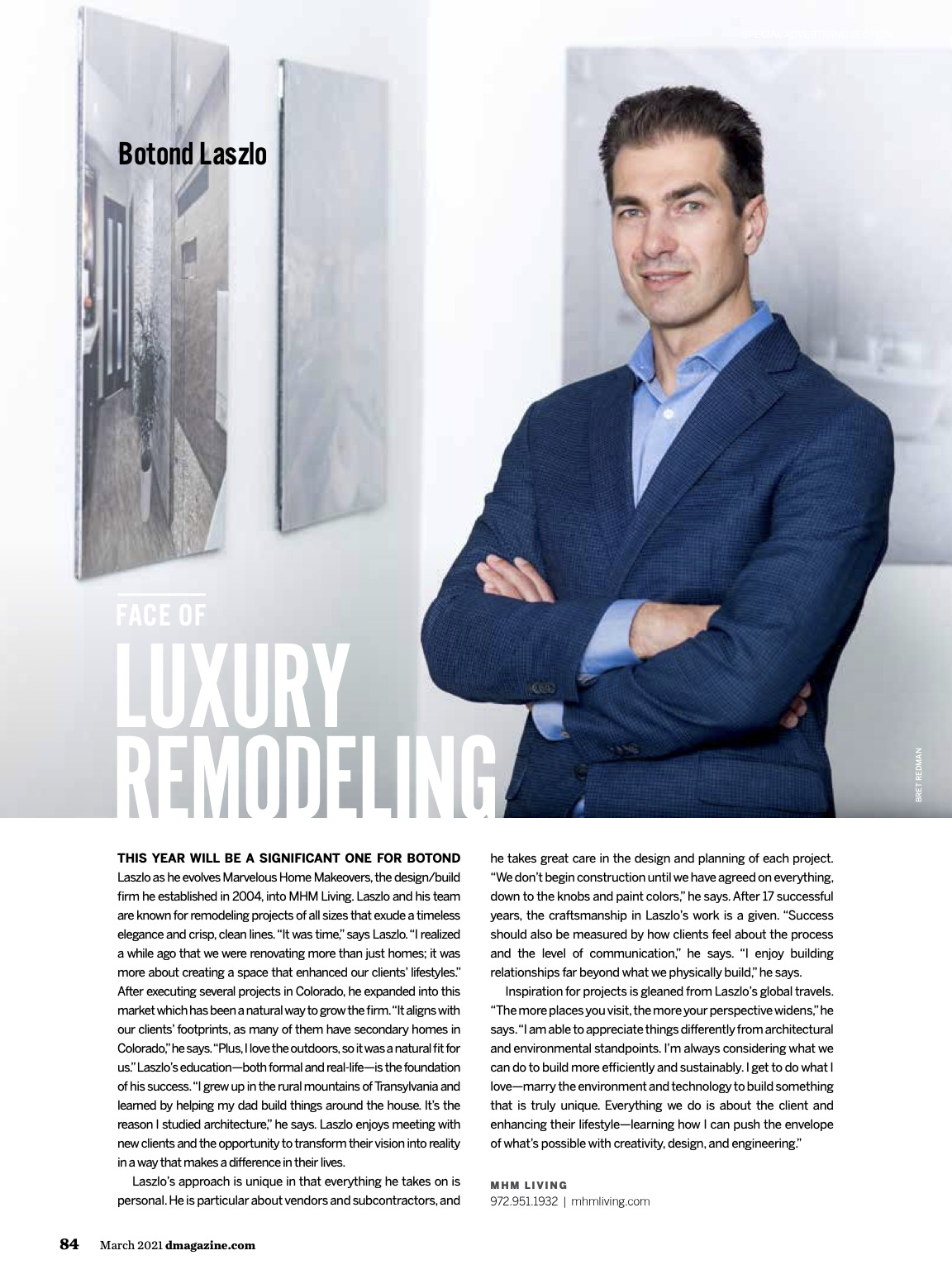 d magazine march 2021 featuring mhm living